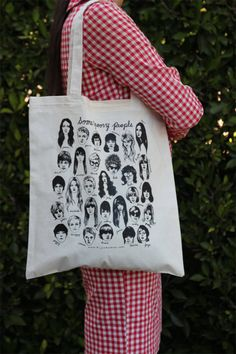 Some Groovy People 1960's celebrity faces tote bag by BijouKarman