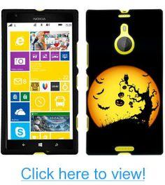 Nokia Lumia 1520 Halloween Moon on Black Phone Case #Nokia #Lumia #Halloween #Moon #Black #Phone #Case