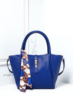 Plus Size Clothing | Leatherette Structured Tote Bag with Printed Sash | Debshops.com