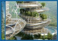 Futuristic Architecture, Asian Cairns Project Comprises Six Sustainable Buildings Resembling A Stack Of Pebbles, Vincent Callebaut Architects, futuristic skyscraper, farmscraper