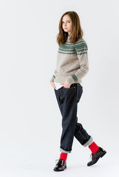 SHETLAND ISLES W.M. - nordic crewneck sweater | RECOMMEND | Bshop inc.(ビショップ) Daily Fashion, Girl Fashion, Fashion Outfits, Womens Fashion, Fashion Design, People Cutout, Librarian Style, Photoshop, Types Of Fashion Styles