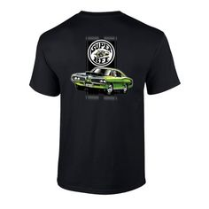 Dodge Green Super Bee Muscle Car Graphic Short Sleeve Adult T-shirt Muscle Tees, Dodge, Bee, Sleeves, Mens Tops, T Shirt, Fashion, Moda, Tee Shirt
