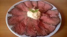 Recept na roastbeef s česnekovou majonézou Paleo Whole 30, Steak, Pork, Menu, Recipes, Roast Beef, Parisian, Chemistry, Kale Stir Fry