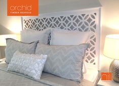 ORCHID Timber Bedhead / Headboard for Queen Ensemble - WHITE in Home & Garden, Furniture, Beds & Mattresses | eBay!