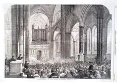 1861 PRINT SALISBURY CATHEDRAL