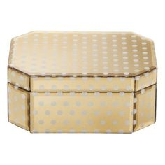Stack two different sizes and use as a Holiday decoration! Threshold™ Jewelry Box - Gold Dot Small