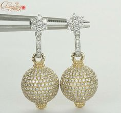 Natural Pave Set Whole Diamond Multi-Tone Gold Drop Earrings Studs Wedding Earrings Studs, Gold Drop Earrings, Stud Earrings, Natural Diamonds, Wedding Engagement, Jewelry Watches, Crochet Earrings, Fine Jewelry, Money