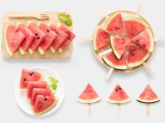 Design of mockup healthy watermelon and watermelon ice cream set isolated on white background. Healthy Lunches For Kids, Easy Healthy Recipes, New Recipes, Healthy Snacks, Egg And Bread Recipes, Banana Bread Recipes, Watermelon Ice Cream, Diner Party, Ice Cream Set