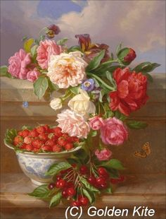 Still Life with Roses and Strawberries
