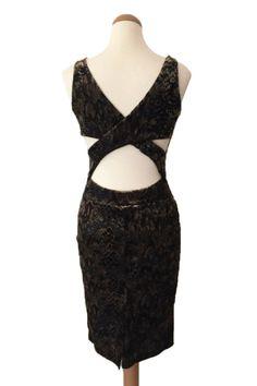 Velvet Tango Dress with Crisscross Back - conDiva    #animalprint #velvet #tangodress #argentinetango #tangoclothes #tangooutfit #dancedress #latin #salsa