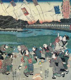 江都勝景中洲より三つまた永代ばしを見る図 | Art, etc.
