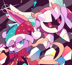 Marx & Galacta Knight! Kirby Character, Game Character, Awesome Games, Fun Games, Cat Egg, Meta Knight, Great Warriors, Toad, Comic Art