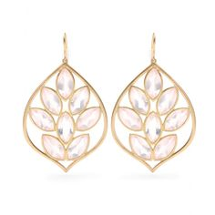 Jamie Wolf~18KT YELLOW GOLD ACORN EARRINGS WITH MARQUIS- ROSE QUARTZ.