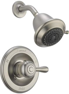 View the Delta T14278-SHCCER Leland Monitor 14 Series Single Function Pressure Balanced Shower Trim Package with Touch Clean Shower Head - Less Rough-In Valve at FaucetDirect.com.