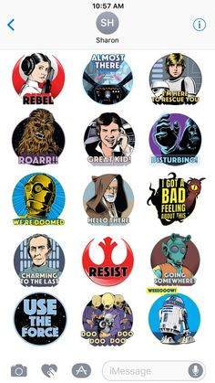 To commemorate the anniversary of Star Wars Episode IV: A New Hope, Disney has announced a new Star Wars sticker pack for iMessage. Star Wars Stickers, Star Wars Episode Iv, Bad Feeling, A New Hope, 40th Anniversary, Product Launch, Apps, Stars, Disney