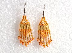 Orange Earrings Great for Halloween   by Cre8tiveXpression on Etsy