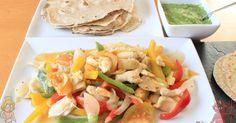 Fajitas de pollo - Adelgazar sin hacer dietas | Adelgazar de forma saludable