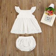 5c627da0f0d3 Adila White Ruffled Set. Cute Newborn Baby GirlBaby ...