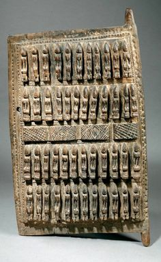 Africa | Door from the Dogon people of Mali | Carved wood