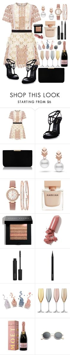 """""""Catching up with the girls"""" by pulseofthematter ❤ liked on Polyvore featuring self-portrait, Dsquared2, L.K.Bennett, Escalier, INC International Concepts, Narciso Rodriguez, Bobbi Brown Cosmetics, LAQA & Co., MAC Cosmetics and LSA International"""