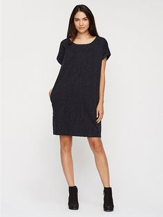 Perfect over skinny jeans--or all on its own, this dress is summer perfect.