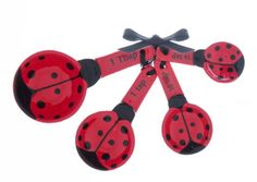 Ceramic Measuring Spoons by Ganz - 4 Piece Set - Ladybugs Ladybug Girl, Kitchen Themes, Kitchen Ideas, Class Decoration, Cute Kitchen, Black Spot, Measuring Spoons, Kitchen Gadgets, Home Accessories