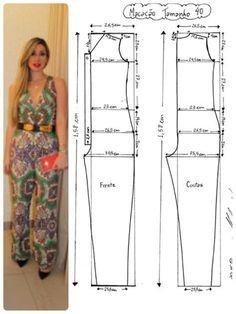 Best 12 Corte e costura – SkillOfKing. Dress Sewing Tutorials, Dress Sewing Patterns, Sewing Patterns Free, Clothing Patterns, Free Pattern, Pattern Sewing, Sewing Projects, Sewing Pants, Sewing Clothes