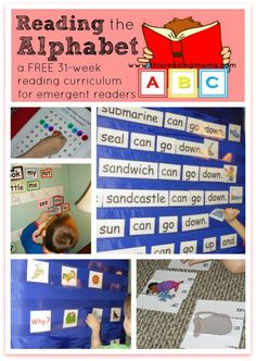 Reading the Alphabet~ a FREE 31-week reading curriculum for beginning readers.