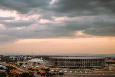 Mane Garrincha Stadium view from the TV Tower in Brasilia with the vast Cerrado behind it. . . . . . . #fujifilm #FujifilmX_US #MyFujiFilm  #fujix #fuji_Xe1 #Xe1 #destination_wow #beautifuldestinations #midtones #mobilefineart by Patrick Silveira