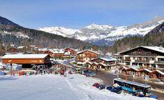 Les Houches: AFDALING PISTE LES HOUCHES PAYS DU MONT BLANC WINTERSPORT FRANKRIJK SKI SNOWBOARD RAQUETTES LANGLAUFEN WANDELEN  INTERLODGE