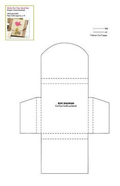 Template that can be used as av tea bag envelope