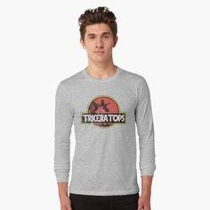 'Jurassic Triceratops Diosaur skelleton grunge ' T-Shirt by helgema Chemise Fashion, Grunge, Peeling, Tshirt Colors, Female Models, Chiffon Tops, Shirt Style, Attitude, Classic T Shirts