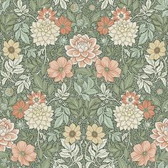 Coloured in a rich and vibrant palette, our Dahlia Garden wallpaper is the perfect pick for elegant interiors. Browse for wallpaper inspiration – order samples with a click! Garden Wallpaper, Of Wallpaper, Pattern Wallpaper, Easy Up, Molduras Vintage, Vintage Floral Wallpapers, Morris Wallpapers, Apple Watch Wallpaper, Backgrounds