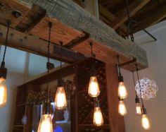 Grange récupéré faisceau appareil d'éclairage par 7MWoodworking