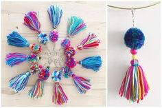 Pom Pom & Tassel Keychains · A Peace of Creativity