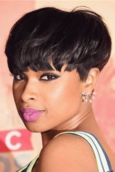 Luna 032 Best Design Women Short Straight Layered Wig with Bangs – Luna Wigs Short Cut Wigs, Short Hair Wigs, Wigs With Bangs, Wavy Hair, Curly Perm, Short Lace Front Wigs, Long Hair, Jennifer Hudson, My Hairstyle