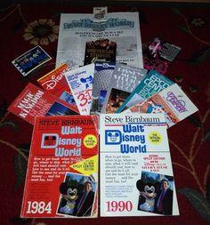 Vintage Disney World Memorabilia Lot Books Pamphlets Maps Guide Pictures 80s 90s  | eBay