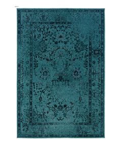 Look at this #zulilyfind! Teal Ornate Renaissance Rug by Oriental Weavers #zulilyfinds
