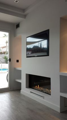 Fantastic Pictures Fireplace Remodel for tv Concepts Living Room Decor Fireplace, Fireplace Tv Wall, Living Room Wall Units, Basement Fireplace, Family Room Fireplace, Open Plan Kitchen Living Room, Fireplace Remodel, Modern Fireplace, Home Living Room