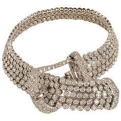 Diamond Gold Buckle Bracelet