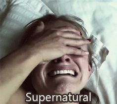 """Community Post: 10 Total Cryfest Moments On """"Supernatural"""" btw this girl is me when I watch this show most of the time tbh"""