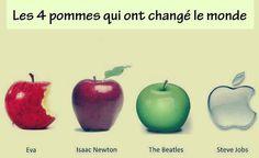 les quatre pommes qui ont changé le monde