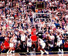 """Michael Jordan - Bulls at Jazz, Game 1998 NBA Finals: """"Michael Jordan's game-winning buzzer beater is possibly the most memorable shot of his storied career. Jordan retired six months later, but returned to the NBA in 2001 with the Washington Wizards. Michael Jordan Last Game, Michael Jordan Photos, Ar Jordan, Jordan Bulls, Jordan Basketball, Jordan Rose, Jordan Jackson, Basketball Jones, Girls Basketball"""