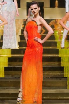 orange is going to be huge this summer - atelier versace 2012
