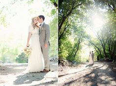 Modest Wedding Dress with lace 3/4 length sleeves