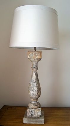 how to make a lamp out of anything! * I can use those table legs I have been saving! Farmhouse Lamps, Rustic Lamps, Rustic Farmhouse, Farmhouse Lighting, Farmhouse Table, Rustic French, Make A Lamp, Outdoor Light Fixtures, Outdoor Lighting