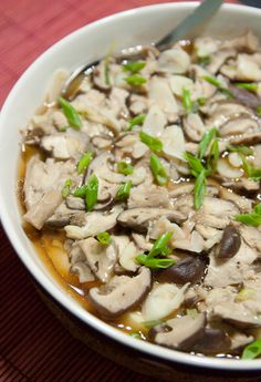 Steamed Chicken with Shiitake Mushrooms & Tofu