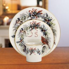 Winter Greetings® 12-piece Dinnerware Set by Lenox These dishes I bought for my mom. They are very festive.