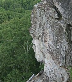 In this picture of Lookout Mountain in Rock City, GA, the top of the mountain seems to be the headgear for the face underneath. Gives the term stone faced a whole new meaning. Rock Sculpture, Sculptures, Mysterious Places, Cool Rocks, Rock Formations, Pretty Cool, Amazing Nature, Geology, The Rock