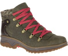 ... leather lace-up winter boot features a leather heel counter and rugged  mountain style for any winter occasion. Merrell Women's Eventyr Bluff  Waterproof ...